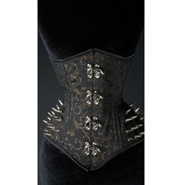 Steel Boned Axinite Extreme Waist Spike Underbust Corset $9 Ship Anywhere