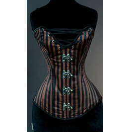 Steel Boned Steampunk Cleavage Clasp Overbust Corset $9 Worldwide Shipping