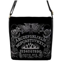 Ouija Board Flap Messenger Bag Black