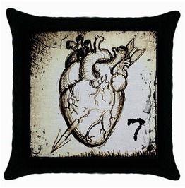 Anatomical Heart Pillow Case