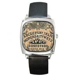 Ouija Square Silver Toned Watch