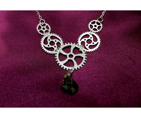 steampunk_silver_cogwheels_olive_grean_teardrop_necklace_necklaces_3.jpg