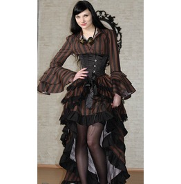 Victorian Steampunk Layer Bustle Pirate Skirt