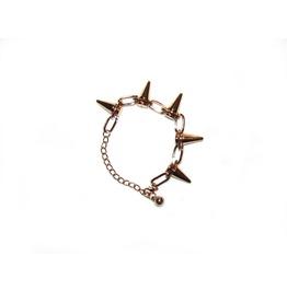 Gold Chainlink Spike Bracelet