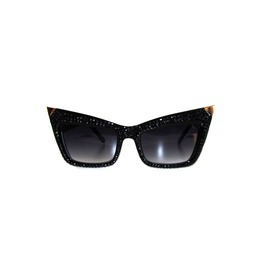 """Razor Cat"" Swarovski® Sunnies Jet Black"