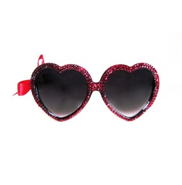 Ruby Red Swarovski® Heart Sunnies