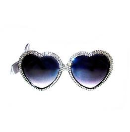 Gunmetal Silver Swarovski® Heart Sunnies