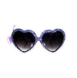 Lavender Sparkle Swarovski® Heart Sunnies