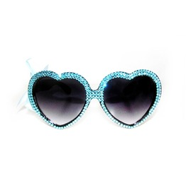 Blue Ice Swarovski® Heart Sunnies