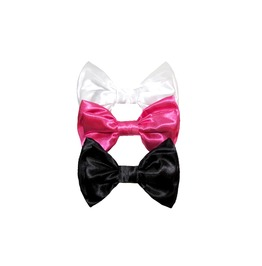 Classic Colors Satin Double Layer Bow Set