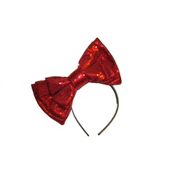 Candy Red Sequin Sparkle Bow