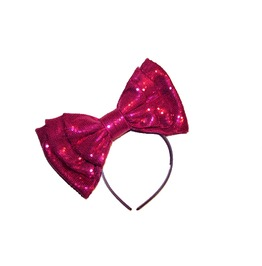 Hot Pink Sequin Sparkle Bow