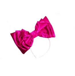 Hot Pink Satin Bow