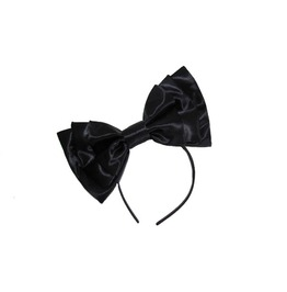 Black Satin Bow