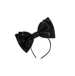 Black Satin Bow