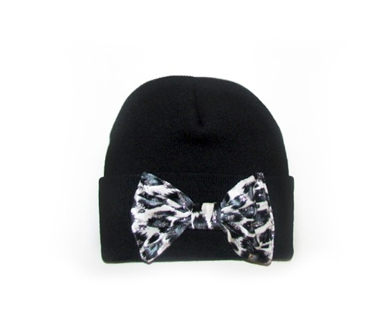 black_beanie_white_leopard_bow_hats_and_caps_3.jpg