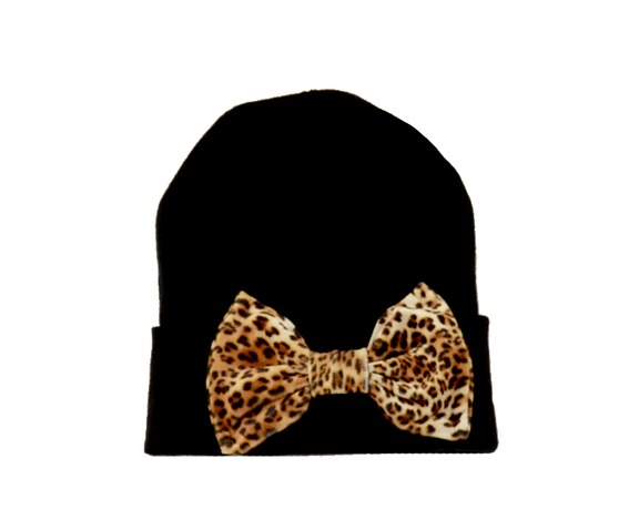black_beanie_leopard_bow_hats_and_caps_3.jpg