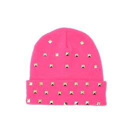 Hot Pink Beanie Studs