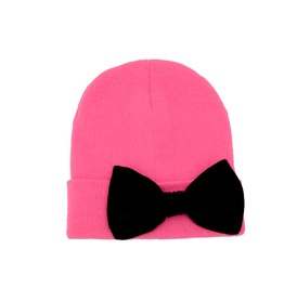 Hot Pink Beanie Bow