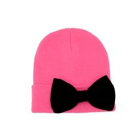 Hot Pink Beanie Bow