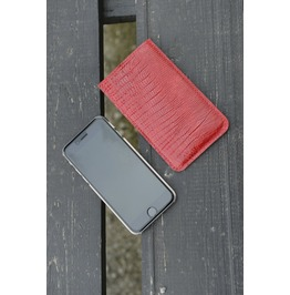 Iphone 5/ 6 Phone Case/ Red Leather Phone Case/ Phone Accesories/ Mobile