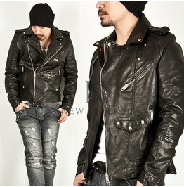 Premium Genuine Multiple Accent Leather Jacket 50