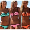 Womens fashion neoprene bikinis woman swimsuit swimwear 4