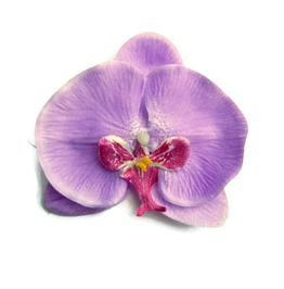 Lavender Orchid Hair Flower, Purple Pinup Tropical Hair Clip