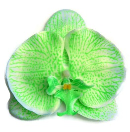 Green Orchid Hair Flower Pinup, Retro, Rockabilly Tropical Hair Clip