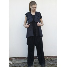 Long Pocket Vest / Vest Pockets / Asymmetrical Vest / Womens Vest