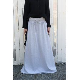 Maxi Skirt / Loose Grey Skirt / Long Urban Skirt / Casual Skirt