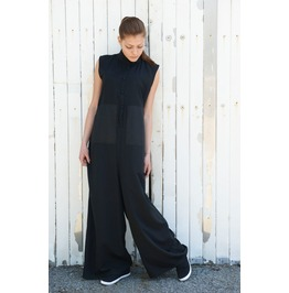 Black Long Jumpsuit / Womens Jumpsuit / Plus Size Jumpsuit / Maxi Jumpsuit