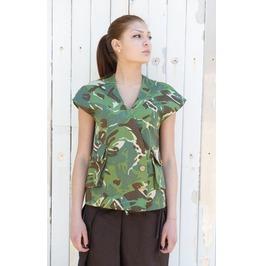 Extravagant Tunic / Vest Large Pockets / Camo Tunic / Short Sleeve Top