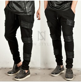 Triple Leather Accent Sweatpants 91