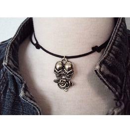 Rose Skulls Necklace