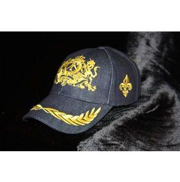 630af270d29 Denim Embroidered Baseball Cap God Save The King