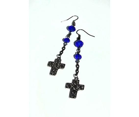 dangle_earrings_blue_deep_blue_glass_beads_embossed_crosses_earrings_3.jpg