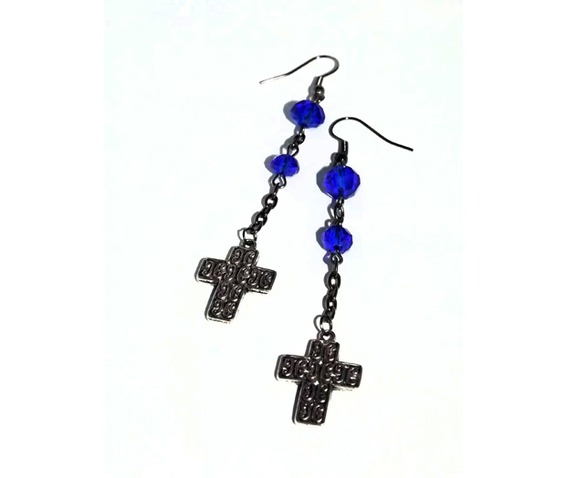 dangle_earrings_blue_deep_blue_glass_beads_embossed_crosses_earrings_3.jpg