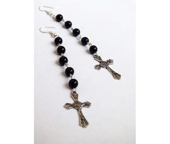 rosary_type_dangle_earrings_black_beads_cross_earrings_3.jpg