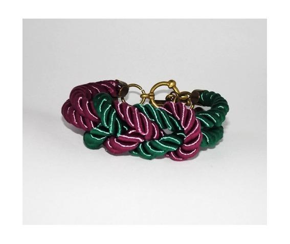 green_purple_knot_rope_bracelet_brass_clasp_bracelets_4.jpg