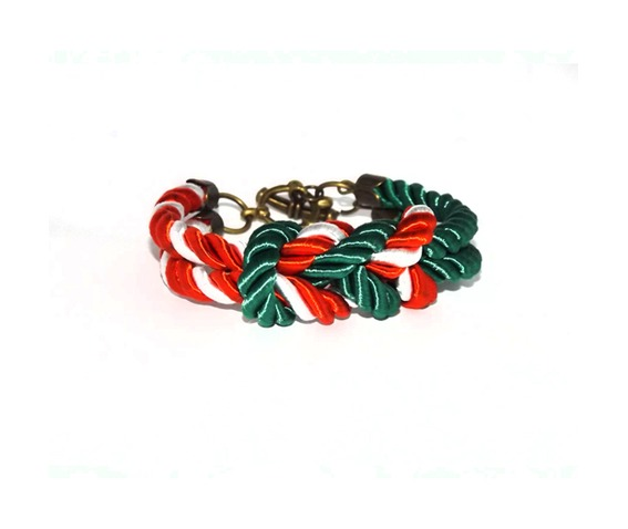 green_red_white_stripes_rope_bracelet_brass_clasp_bracelets_5.jpg
