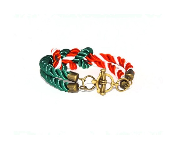 green_red_white_stripes_rope_bracelet_brass_clasp_bracelets_4.jpg