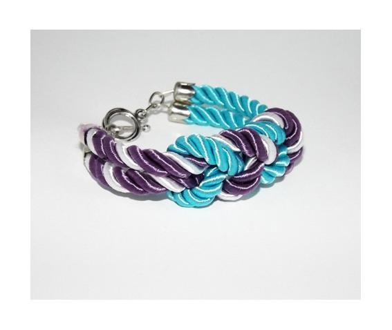 turquoise_purple_white_stripes_knot_rope_bracelet_silver_clasp_bracelets_3.jpg