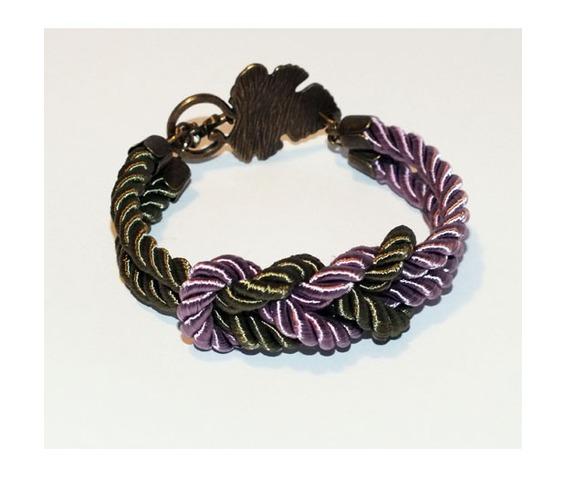 lavender_khaki_knot_rope_bracelet_brass_leaf_clasp_bracelets_4.jpg