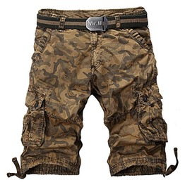 Mens Multi Pocket Camouflage Cargo Short
