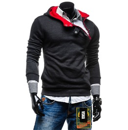 Mens Casual High Neck Sweatshirt