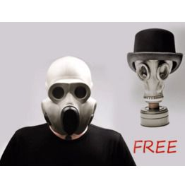 White Gas Mask Pbf Mask Called Gorilla Size Small (1) Gp 5 Mask For Free