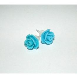 Tiny Romantic Turquoise Rose Studs