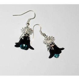 Black Gothic Lily Earrings