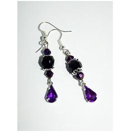Fancy Black Purple Gothic Earrings